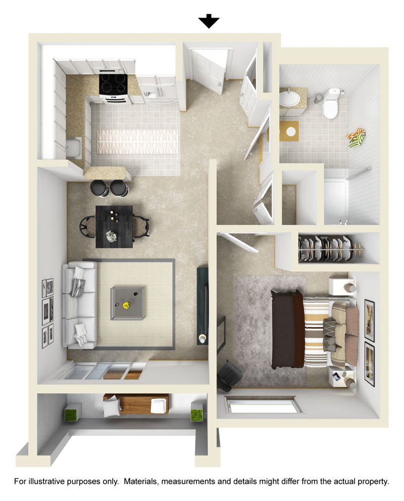 One A floor plan